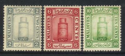Maldive Islands 1933 Defins 3 Mh Values