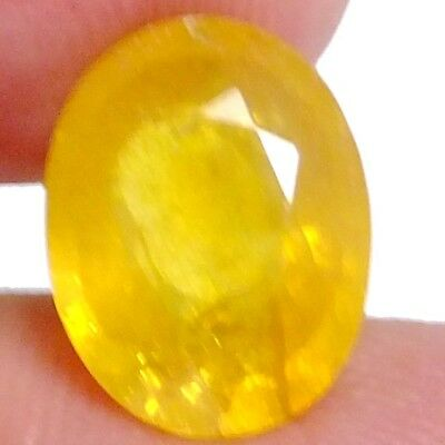 NATURAL YELLOW SAPPHIRE GEMSTONE LARGE OVAL CUT 13.5 x 10.6 mm