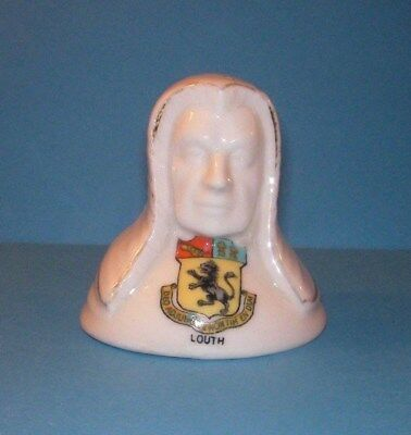 Arcadian Crested China  Bust of Judge Louth Crest