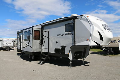 Low Price on New 2017 Forest River Wolf Pack 325PACK13 Toy Hauler w/ Rear Garage