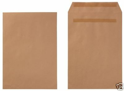 25 50 100 250 C4 A4 324 x 229mm Plain Manilla Envelopes 80gsm Self Seal 2078211