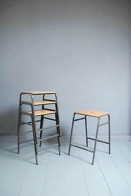 Vintage Remploy Stacking School Lab Stools - Cafe Bar Restaurant - 20 Available