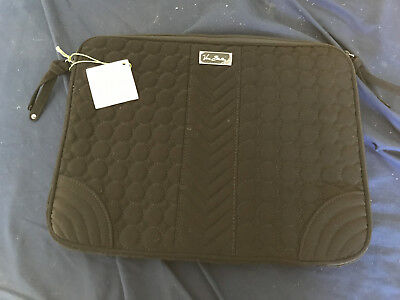 Vera Bradley Laptop Sleeve Black Quilted New with tags!