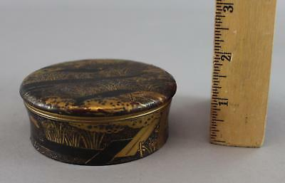 Antique 19thC Japanese Small Lacquer Garden Painting Box, NO RESERVE!