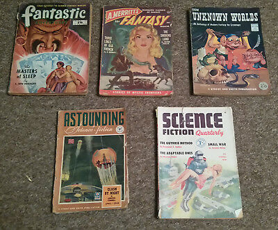Assorted Sci Fi pulp magazines