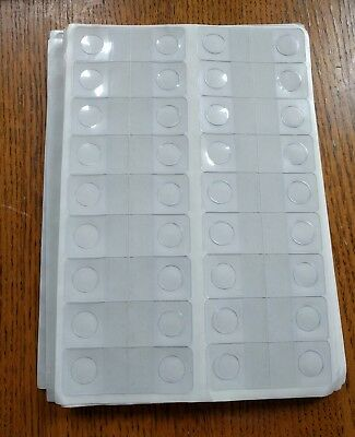 """Kenco 1-1/4"""" X 7/8"""" Round Hole Adhesive Hang Tabs TOTAL 648 OPEN PACKAGE"""