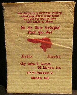 1950s Pontiac Dealer Service Napkin City Sales of Muncie Indiana