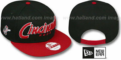 f43efa09781eb REDS  SNAP-IT-BACK SNAPBACK  Black-Red Hats by New Era -  21.99 ...