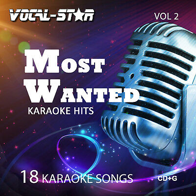 Vocal-Star Most Wanted karaoke CDG Disc Set - 18 Songs ( Vol 2)