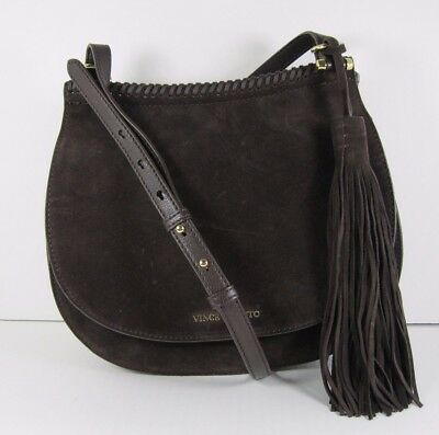 Vince Camuto Women/'s Aniko Leather Magnet-Snap Tote Chestnut