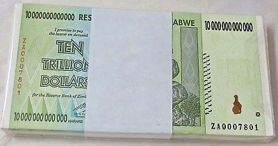 Low Serial# UNC ZA Replacement 20 Trillion Zimbabwe Dollars Bank Note 2008