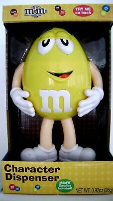 Yellow MM Character Collectible Candy Dispenser