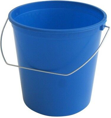 2.5 qt. Small Pail Bucket Blue Plastic Container Storage Carry Handle 12-Pack