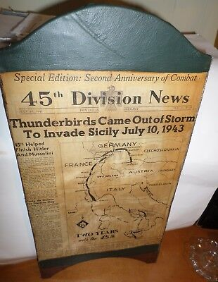 Antique Vintage WW II 45th Division Newspaper Thunderbirds July 10, 1943 Media