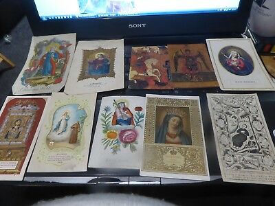 024 10 Small cards religious pictures tracks colourful European German Polish ?