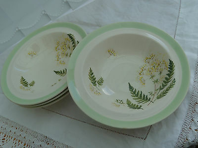 Vintage Johnson Bros Fern Pattern Dishes X 4 (1950's/60's)