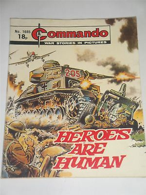 Commando - War Stories In Pictures - Heroes Are Human Issue No. 1685