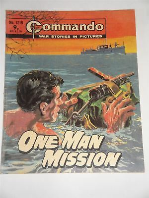 Commando - War Stories In Pictures - One Man Mission Issue No. 1215