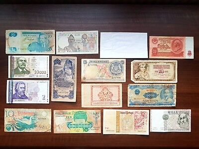 Seychelles Bulgaria Austria British India USA Singapore Portugal Africa banknote