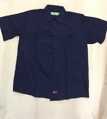 Red Kap Short Sleeve Industrial Work Shirt Navy Blue New closeouts 2 pack!!!