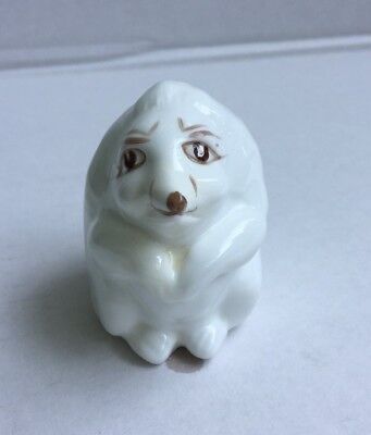 "Vintage Ceramic Porcelain Hedgehog Figurine 1-3/4"" - Coalport Bone China England"