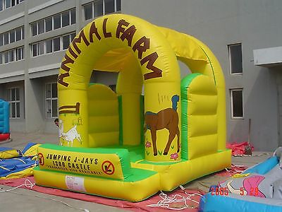 MASSIVE JUMPING CASTLE SALE - 4mx4m Castle Animal Farm Theme **Commercial** USED