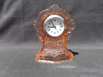 "Walther Pink Depression Glass ""waltraut"" Clock"