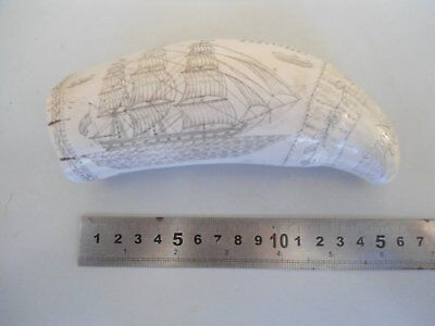 Scrimshaw Whale Tooth Reproduction Antique Ornament