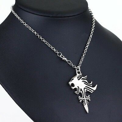 Final Fantasy VIII 8 Griever Squall Leonhart Lion Head Necklace Anime Cosplay