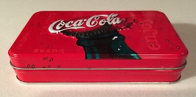 Coca Cola Playing Cards 2 Decks + Collectible Metal Tin ~ Made In The USA~Coke