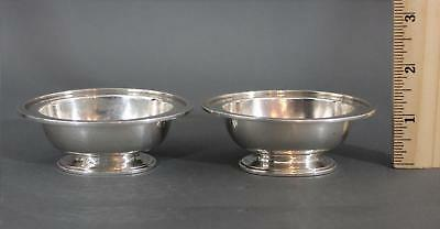 Antique Tiffany & Co Hand Hammered, Arts & Crafts, Sterling Silver Open Salts