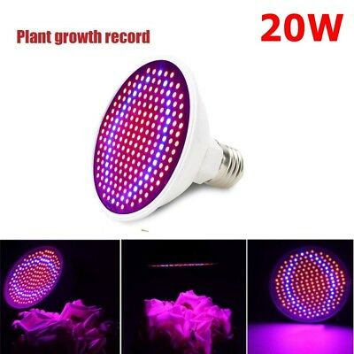 20W E27 LED Plant Grow Light Lamp Bulb For Indoor Hydroponic Vegetable Flower TQ