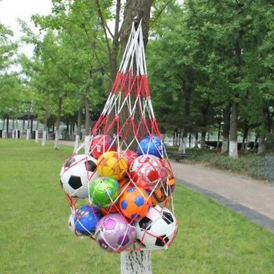Red&White Carry Mesh Net Bag-Holds All Balls Outdoor Sport Nylon Storage Tools