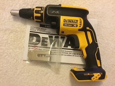 New Dewalt DCF620B 20V Max XR Cordless Brushless Drywall Screwgun Screwdriver