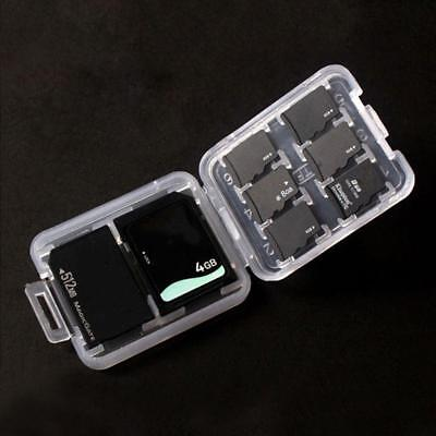 Memory Card Storage Case Holder with 8 Slots for SD SDHC MMC MicroSD Cards*
