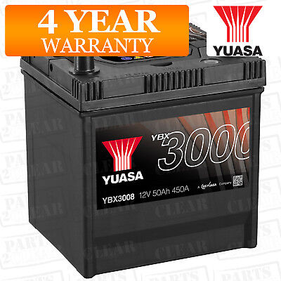 Yuasa Car Battery Calcium 12V 450CCA 50Ah T1 For Nissan Primera P10 1.6 SPi