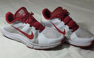 buy online e660c 0c899 NIKE FREE TRAINER 5.0 White Silver Red 511018 -160 Size US 15 UK Size 49.5