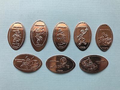 Tomorrowland 8-Design Pressed Pennies WDW MK Star Traders Set *NEW*