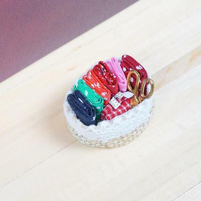 Sewing Mini Accessories Kit Model For 1:12 Miniature Dollhouse Decor DIY Gift