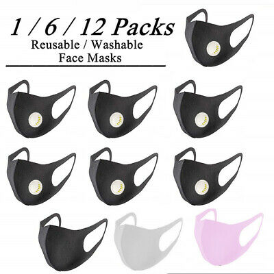 Reusable Anti Dust Pollution Fold Face Mask Respirator Mouth Cover Filter Safty