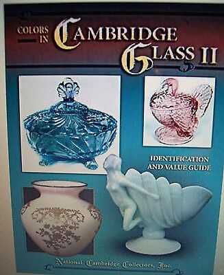 VINTAGE CAMBRIDGE GLASS PRICE GUIDE COLLECTOR'S BOOK  New HARDBACK