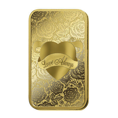 10g PAMP Love Always Minted Bar 9999 Gold  (Certified:)