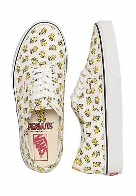 94ad32e1a6 Vans Peanuts Woodstock Bone Snoopy Charlie Brown Shoes Authentic Women  Sneakers