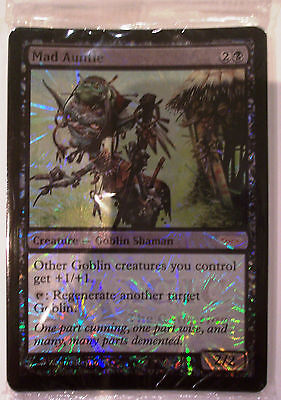 Magic The Gathering MTG MAD AUNTIE Promo Card x 8 FOIL - Sealed Pack mild curl