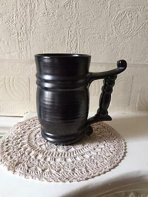 Vintage Prinknash Pottery Tankard Gun Metal VGC Collectable English Pottery