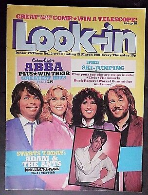 Look In, Vintage Junior TV Times Magazine, from 21st March 1981, Number 13