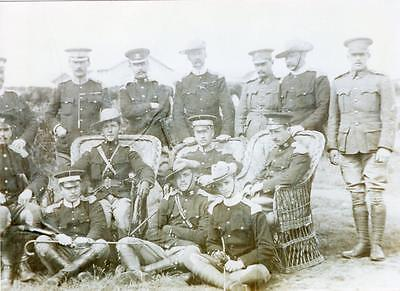 17th Lancers & Other Regiments Officers at Camp 1902 Photograph