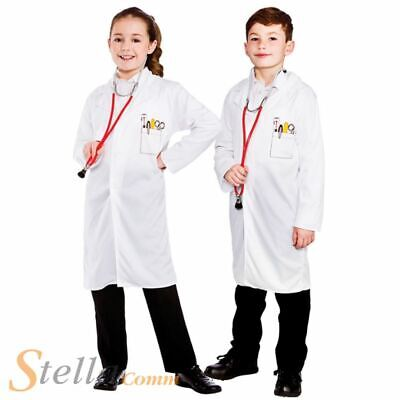 Childrens Doctor Vet Lab Coat Hospital Nurse Fancy Dress Costume Boys Girls