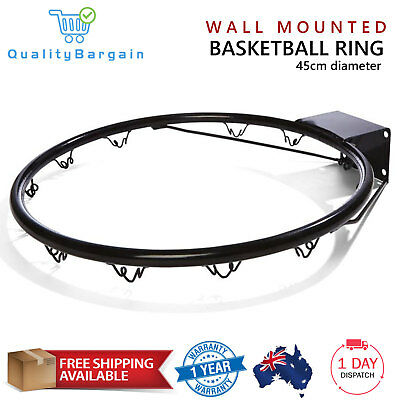 Pro Size Wall Mounted Basketball Ring Hoop Netball Steel Rim Kids Outdoor Sports