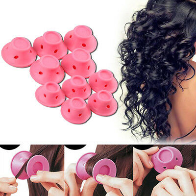 10pcs Silicone Hair Curler Magic Hair Care Rollers No Heat Hair Styling Tool